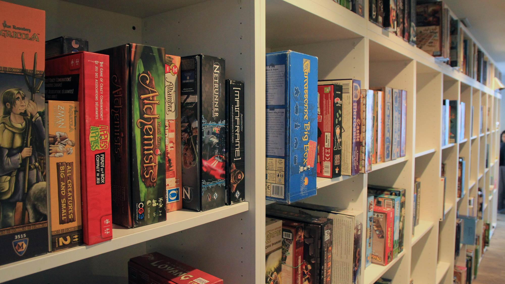 Board Game Collection at The Hexagon Board Game Cafe